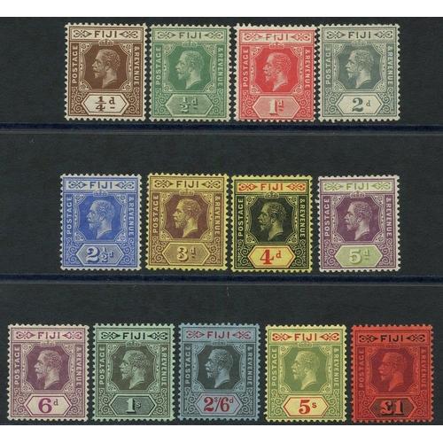 715 - 1912-23 MCCA set fine M, SG.125/137. Cat. £300...