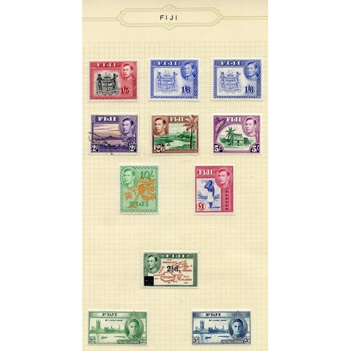 717 - 1935-67 fine M collection on leaves incl. 1935 Jubilee set, 1938 set + extras (2s is VFU), 1948 Wedd...