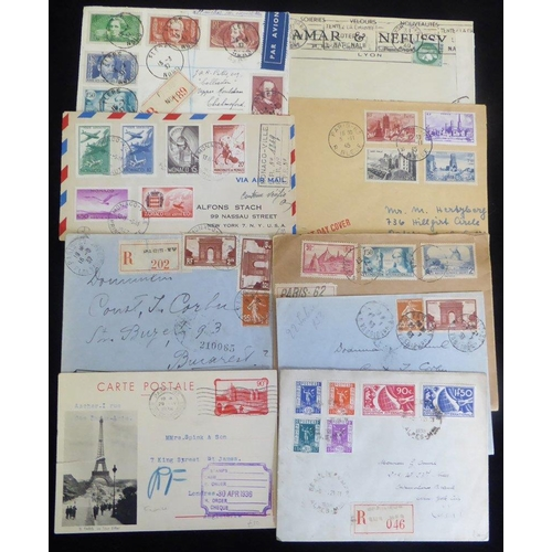 732 - 1930's cover & cards incl. 1937 Exhibition set plus PPC with Expo cancel, Czech due on PPC, better s...