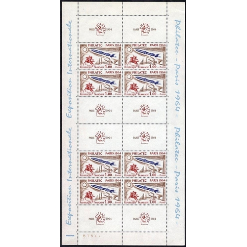 741 - 1964 PHILATEC Paris M/Sheet, UM (minor marginal bends), SG.MS1651a, Cat. £425...