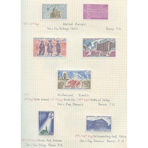 743 - 1970-94 M collection housed in three multi ring albums, fairly complete apart from Liberte & Briat d...