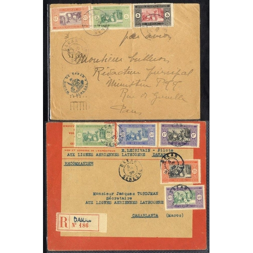749 - SENEGAL 1923 May 11th ROIG flight Dakar - Casablanca and on to France, b/stamped Toulouse. 1925 June...