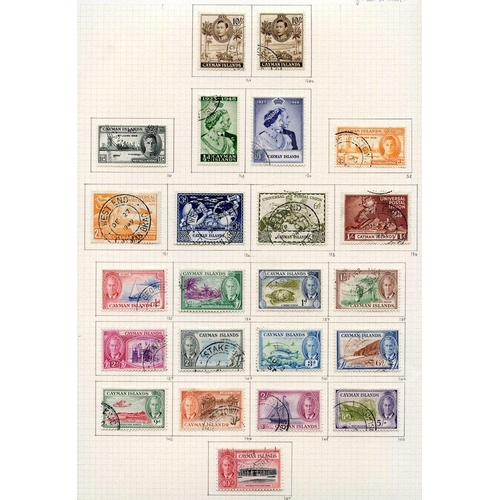 75 - KGVI COLLECTION 1937-52 of BWI countries U on philatelic leaves with Antigua (31), Barbados (65), Br...