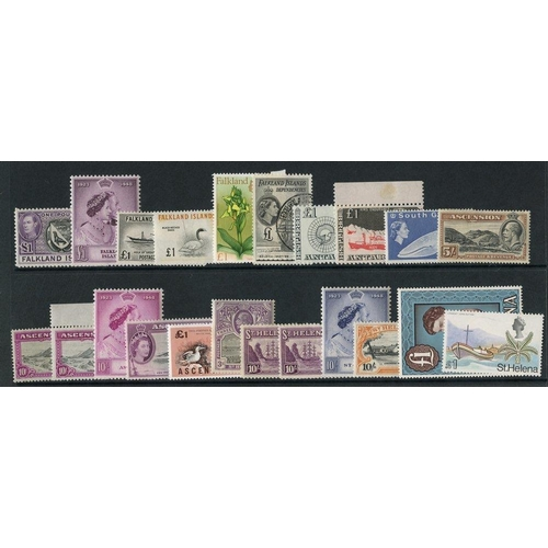 76 - BRITISH COMMONWEALTH - Falklands 1935-70 M or UM collection incl. 1935 Jubilee M, 1938 Defin set M, ...