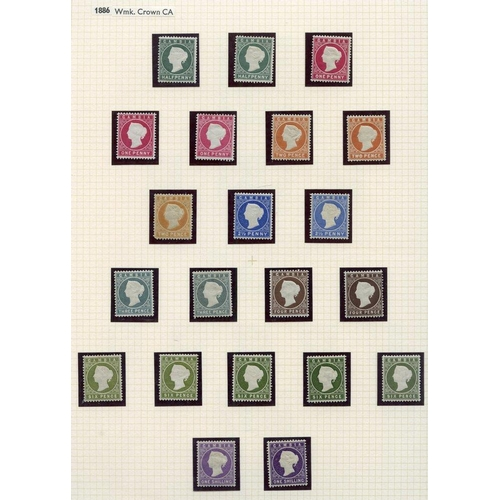 761 - 1886-93 CCA ½d (7) - five U, 1d (10) - seven U, 1d (12) - nine U, 2½ (10) - eight U incl. one with w...
