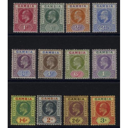 762 - 1902-05 CCA set, M (2/6d heavy tone patch), SG.45/56. (12) Cat. £225...