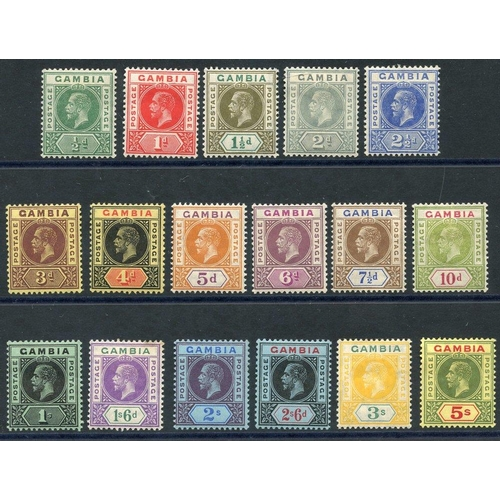 765 - 1912-22 MCCA set, fine M, SG.86/102 (17) Cat. £190...