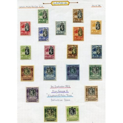 767 - 1922-29 MCCA & MSCA set, fine M, SG.118/142. (19) Cat. £273...