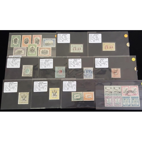 77 - BRITISH COMMONWEALTH Ex-dealer's stock of stamps each on a black display card from British Central A...