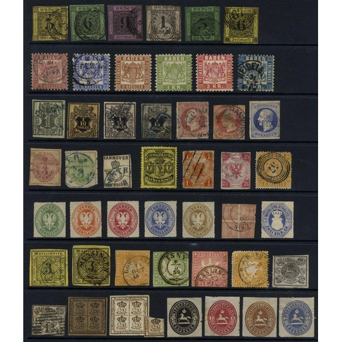 770 - COLLECTION OF M & U on black hagner leaves comprises Prussia range of 29 U stamps & ten items of U p...