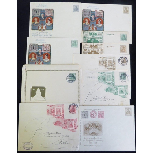 774 - Germania frankings & stationery incl. private commemorative types, attractive PPC's, nice underpaid ...