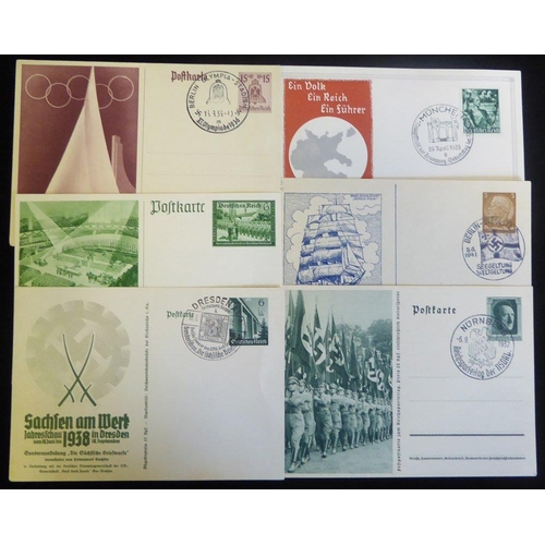 778 - POSTAL STATIONERY OF THE THIRD REICH fine collection of 111 cards housed on hagner leaves in a ring ...