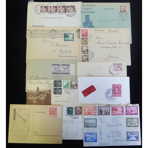 779 - Third Reich bundle of covers & cards with a wide range of frankings, cancellations & origins. Inspec...