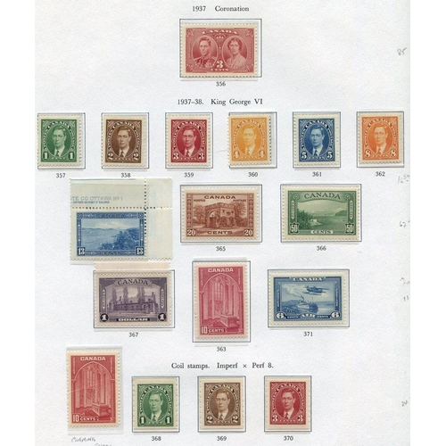 78 - AUSTRALIA, CANADA & NEW ZEALAND chiefly M collection housed in three printed albums (earlies through...