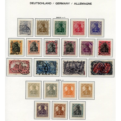 786 - Collection on Lighthouse leaves 1872-1932 with a small range of Eagle vals to 5g, 1875 to 50pf, 1889...