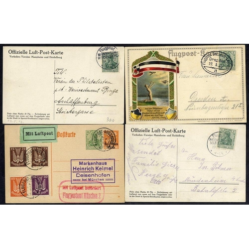 790 - 1912 special flight Heidelberg - Mannheim official card, same card for Mannheim - Heidelberg flight,...