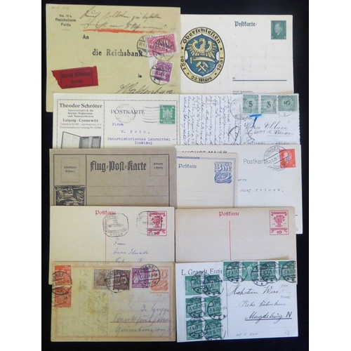 794 - 1920's covers & cards with a good variety of single, multiple & combined frankings incl. advertising...