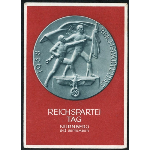 807 - 1937 Day of German Art, Munchen promotional card c.t.o. with 6pf from the Culture M/Sheet (large pie...