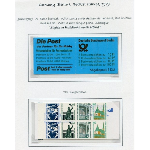 822 - 1989-2000 excellent range of attractive stamp booklets incl. important buildings, self-adhesives, Eu...