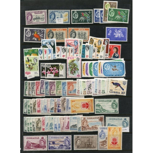 83 - BRITISH COMMONWEALTH QEII M or UM (fewer U) assortment of full or part sets & odds etc, housed on a ...