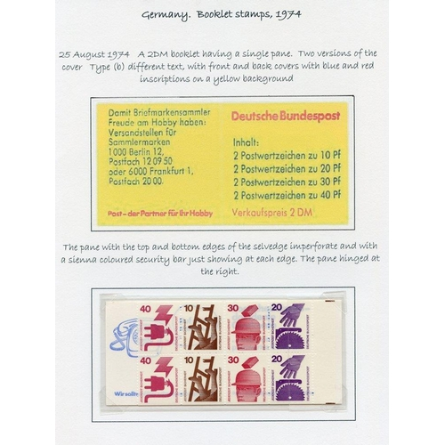 836 - 1972-77 fine range of complete booklets with single pane Accident Prevention stamps 1972 Olympics, f...