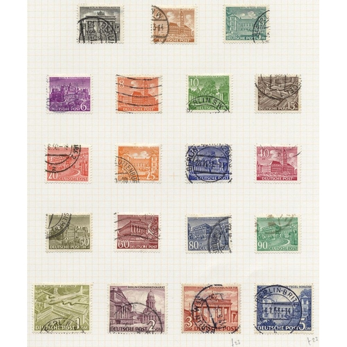 838 - 1948-81 chiefly VFU collection incl. 1949 UPU 16pf, 24pf, 50pf & 60pf (Cat. £145), 1949 Buildings 3d...