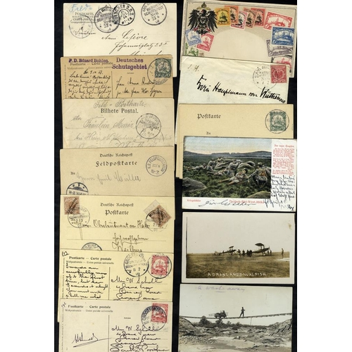 846 - SOUTH WEST AFRICA 20thC various German Seapost cancels on postcards, carried Woermann Line Ships, ve...