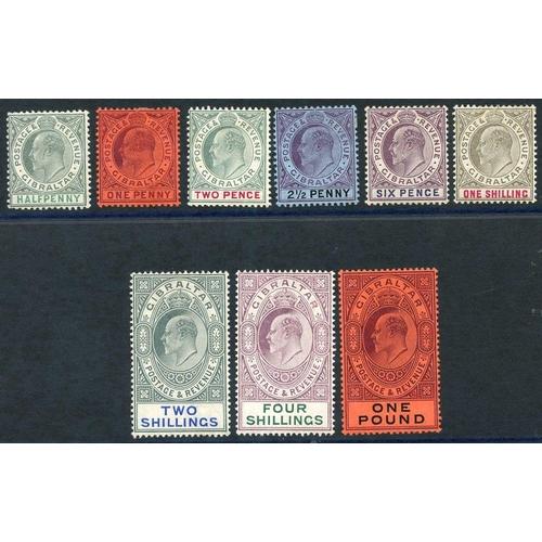 854 - 1904-08 MCCA set fine m SG.56/64. (9) Cat. £1100...
