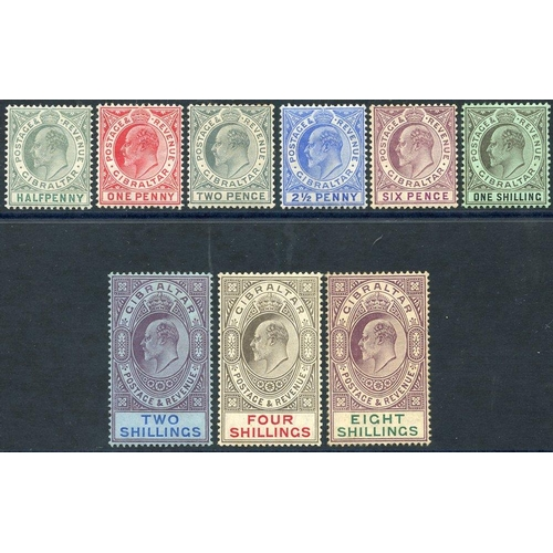 855 - 1906-11 Colours Changed MCCA set M, SG.66/74. (9) Cat. £550...