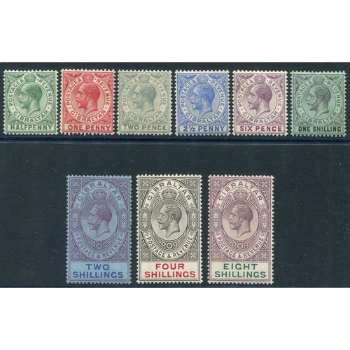 856 - 1912-24 MCCA set to 8s, fine M, SG.76/84. (9) Cat. £220...