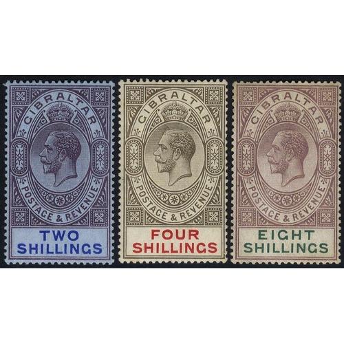859 - 1912-24 MCCA 2s, 4s & 8s M, SG.82/84 (3) Cat. £165...