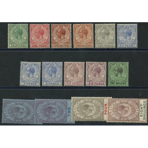 861 - 1921-27 MSCA set, fine M (2½d is creased) + extras, SG.89/101. (15) Cat. £420...