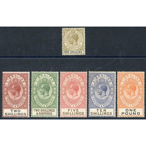 862 - 1921-27 MSCA set, fine M, SG.102/7. (6) Cat. £250...