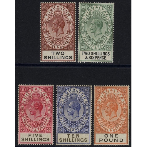 863 - 1925-32 New Values & Colours Changed MSCA 2s - £1, fine M (2s gum bend), SG.103/107. (5) Cat. £259...