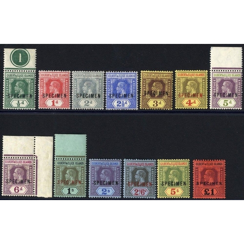 868 - 1912-24 MCCA set optd SPECIMEN (1s gum faults), SG.12s/24s. Scarce complete set. Cat. £600 (10)...