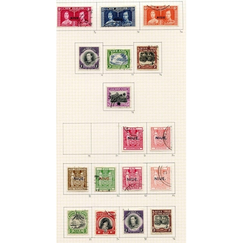 87 - KGVI COLLECTION 1937-55 of Pacific & Indian Ocean Territories U on philatelic leaves with Fiji (56),...