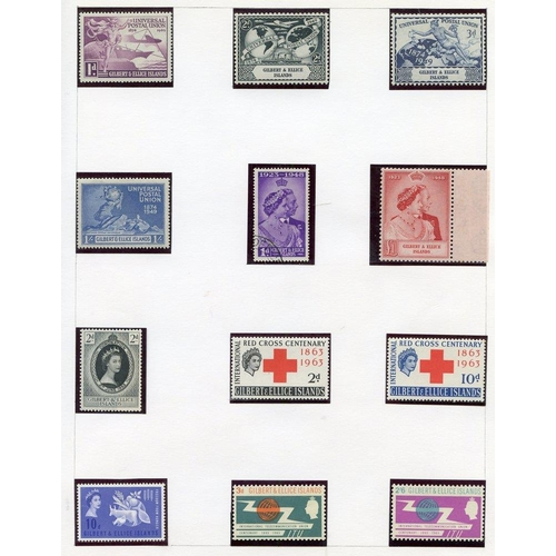 870 - Collection on leaves with 1935 Jubilee FU, 1939 to 5s M, 1948 Wedding (tiny tone), 1949 UPU, 1956 to...