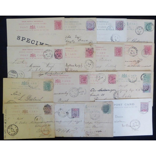 872 - 19thC group of QV ½d & 1d postal stationery cards and single 1½d, also QV franked 1d PPC's, most var...
