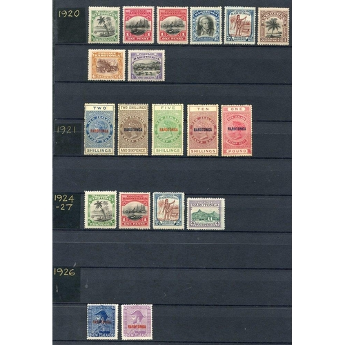 88 - PACIFIC ISLANDS - a predominantly M group comprising Cook Islands (153) incl. 1893-99 P.12 x 11½ 1d ...