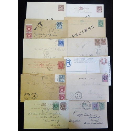 886 - 20thC early KEVII & KGV good range of postal stationery covers incl. 1902 PPC B27 KWITTA, KEVII card...