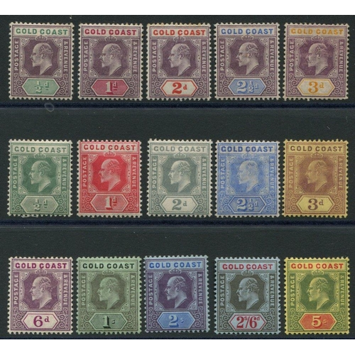 887 - 1904-06 MCCA set to 3d, SG.49/53 & 1907-13 MCCA set, SG.59/68 - all fine M (15) Cat. £358...