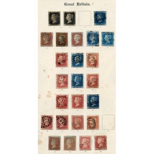 91 - BRITISH EMPIRE collection housed in an Old Imperial album. 1840-1900 general ranges with several cla...