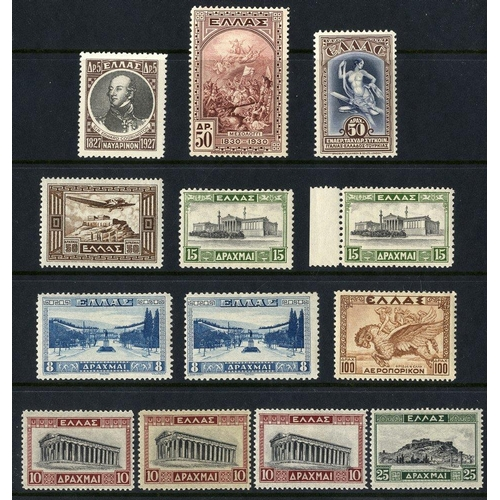 917 - Collection with 1929 Red Cross Charity issue 10l pairs imperf. & imperf. between unused, 1926 Italy-...