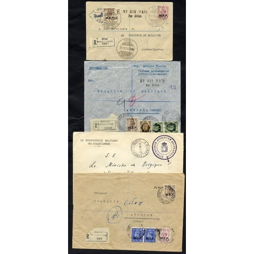 942 - British Occupation of the Dodecanese Islands - 1945-47 collection with MEF issues with postmark inte...