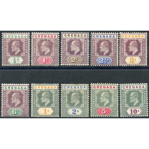 956 - 1904-06 MCCA set, fresh M (1s has toned perf), SG.67/76 (10) Cat. £450...