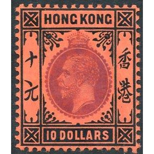 976 - 1912-21 MCCA $10 purple & black/red fresh M, SG.116. Cat. £600...