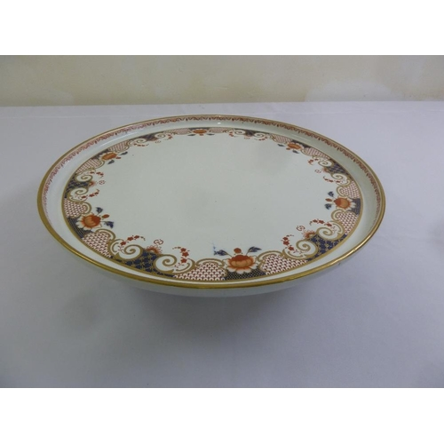 101 - Wedgwood porcelain lazy susan decorated with flowers, scrolls and leaves, A/F...