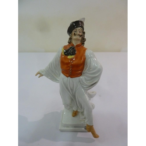 139 - Herend figurine of a dancing nobleman, marks to the base, 28cm (h)...