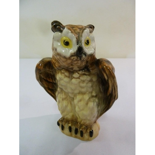 152 - Goldscheider figurine of an owl, marks to the base, 15.5cm (h)...