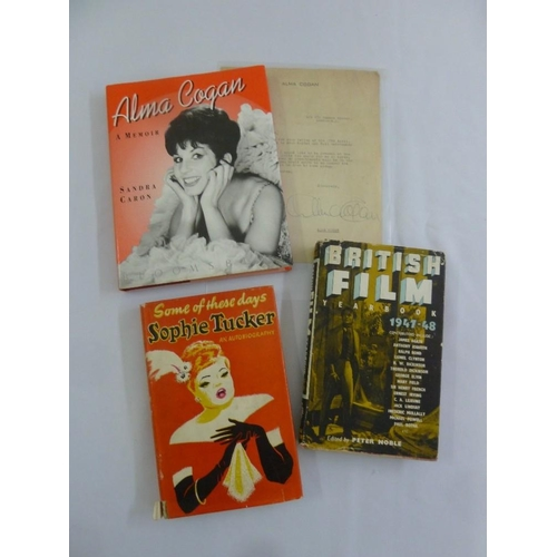 232 - Sophie Tucker signed autobiography hardbound book with dust jacket and a hardbound book on British F...